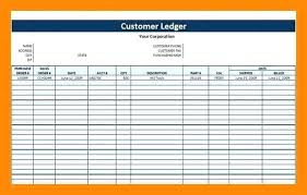 Free Printable General Ledger Template Business Excel Rental