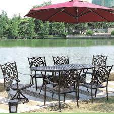 heavy duty patio furniture with redpatio umbrella and patio furniture set
