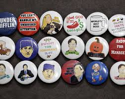 the office ornaments. the office buttons set of 3 ornaments