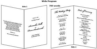 sample wedding program wording enter your wedding program wording