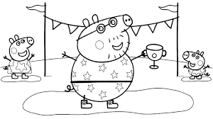 Printable Peppa Pig Coloring Pages Pig Coloring Sheets Awesome