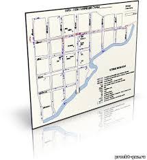 Дипломы газоснабжения Чертежи газоснабжения Каталог файлов  Карта схема газопроводов