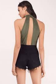 Priscilla Black Suede Bodysuit - ShopperBoard