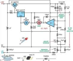 variable power supply circuit diagram the wiring diagram fully adjustable power supply circuit diagram circuit diagram