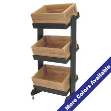 three tier wood crate display with casters acrylic displays acrylic pop displays