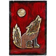 howling coyote 3d metal wall art