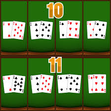 diffe ways to get a 10 and an 11 in blackjack
