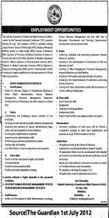 Personnel Management Job Description Senior Administrative Officer Assistant Human Resource
