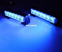 Led Blue Police Lights 12 Led Strobe Light Car Warning Flashlight Led Light Bar Emergency Police Firemen Lights Lamp Blue Emergency Strobe Light Emergency Strobe Light Kits