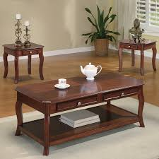 cherry end tables. Coaster Fine Furniture 3-Piece Brown Cherry Accent Table Set End Tables 1