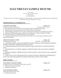Electrician Resume Magnificent Journeyman Electrician Resume Samples Best Of Sample Resumes For