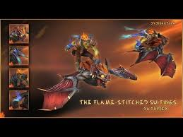 songs in dota 2 batrider flamestitched suitings set preview
