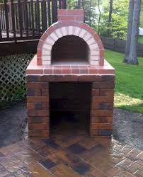 outdoor fireplace with pizza oven plans awesome a perfectly constructed diy wood fired brick pizza oven