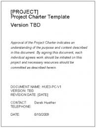 project charter sample free project charter template derek huether