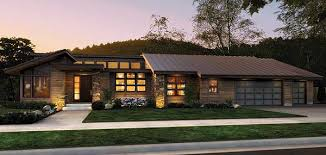 northwest modern home architecture. This Stunningly Original Contemporary House Plan Home Brings A Chic Sensibility To One Level Living. Long Gallery Separates The Home\u0027s Spaces, Northwest Modern Architecture H