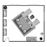 office floor plan templates. Office Floor Plan 23x20 Templates