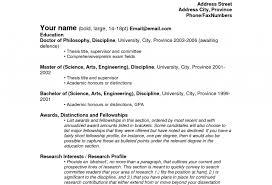 Fresh Idea Sample Resume For College Student 13 Academic Photo