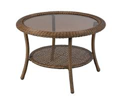 wicker coffee table with glass top round wicker coffee table glass top best of spring haven wicker coffee table