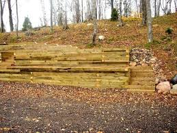 landscape wood retaining wall treated timber retaining wall landscape timber retaining wall steps