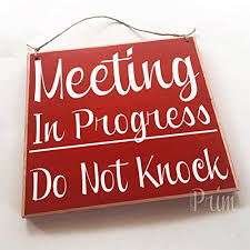 Session In Progress Door Sign 8x8 Meeting In Progress Do Not Knock Custom Wood Sign In Session Do Not Disturb Salon Spa Office Business Door Welcome Plaque