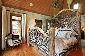 rustic tree furniture. tree branched rustic western bedroom furniture under ceiling fan elegant homes showcase o
