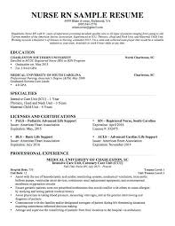 Professional Resume Objective Samples Graduate Nurse Resume