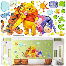 winnie the pooh wall art children baby carton wall sticker the decal wallpaper room sticker house