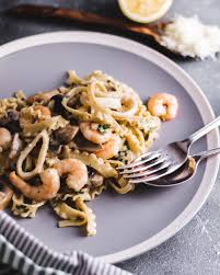 Seafood Tripoline Pasta Alfredo