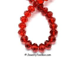 Red Crystal Rondelles Faceted Glass Abacus Beads 16 To 24 Inch Strands Choose Bead Size 6x4mm 8x6mm 10x7mm 12x8mm Hole 1mm
