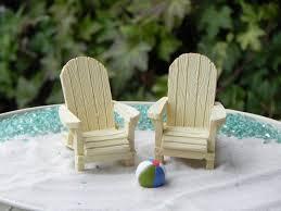 miniature adirondack chair cream off white fairy beach garden 6 50