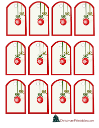 elegant gift tags featuring christmas ornaments