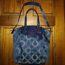 Coach F25183 Ashley Dotted Op Art North South Bag