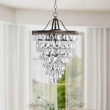 ivana 5 light luxury crystal chandelier in antique bronze and