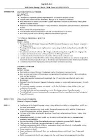 Proposal Writer Resume Samples Velvet Jobs