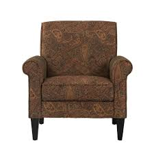 Image Lauderdale Fl Handy Living Jean Paisley Multicolored Paisley With Burgundy Arm Chair no Nail Head Trim The Home Depot Handy Living Jean Paisley Multicolored Paisley With Burgundy Arm