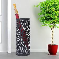 Modern umbrella stand Cube Umbrella Round Metal Umbrella Stand Black Modern Umbrella Holder Durable Metal Contruction Plastic Drip Tray Design To Protect Your Floor From Water Extra Small Joomlastyleinfo Decoration Round Metal Umbrella Stand Black Modern Umbrella Holder