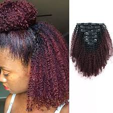 African American Natural Hairstyles 3 Inspiration AmazingBeauty 224A Grade 224C 24A Big Afro Kinkys Curly Ombre Hair