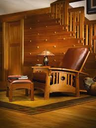 How to Buy Arts & Crafts Furniture. Details on Stickley's 'Tsuba' Morris  chair include incised carving, ebony pegs, and cloud-lift styling.