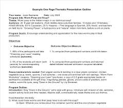 How To Do A Presentation Outline 9 Presentation Outline Templates Free Premium Templates