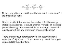 capacitor energy equation tessshlo