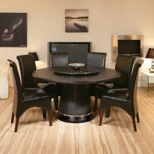 round oak dining table lazy susan black oak 6 high leather chairs