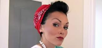 how to style put your hair in a bandana retro pin up style hairstyling wonderhowto