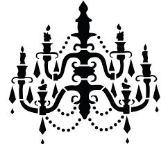 chandelier clipart stencil 6