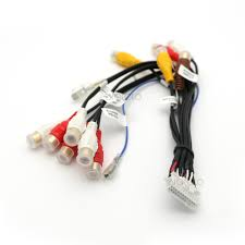 24 pin plug car stereo radio rca output wire harness wiring wire harness connectors automotive at Harness Wire Connectors