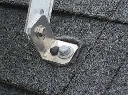 roof mount with asphalt patch compound