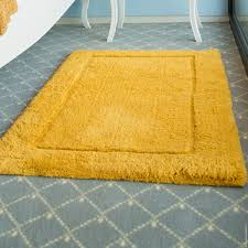 get rid of yellow bath rugs stains