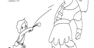 David And Goliath Coloring Pages And Coloring Pages For Preschoolers