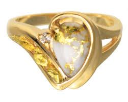 alaskan gold in quartz jewelry the best photo
