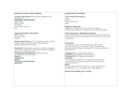 Resumes Outline Easy Resume Example Dew Drops