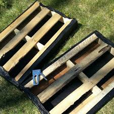 how to make raised garden beds. DIY Pallet Garden; How To Make Raised Wood Garden Bed Beds